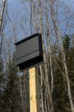 Bat House on. A new bathouse mounted on a post Stock Photography