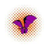 Bat icon in comics style Royalty Free Stock Photography