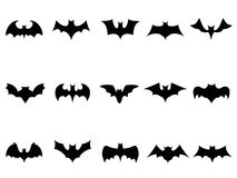 Bat icons Royalty Free Stock Photo