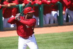 At bat, Justin Upton, Arizona Diamondbacks Stock Images