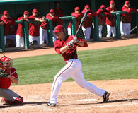 At bat, Kelly Johnson, Arizona Diamondbacks Royalty Free Stock Image