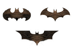 Bat Logo with mustache texture Royalty Free Stock Image