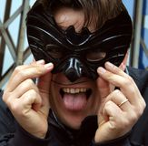 Bat mask. Trick for Carnival Royalty Free Stock Image