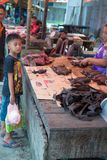 Bat meat on sell in indonesian market Royalty Free Stock Photo