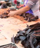 Bat meat on sell in market Royalty Free Stock Images
