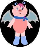 'bat' mignonne de porc Photos libres de droits