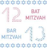 Bat mitzvah e bar mitzvah 12 e 13 anni illustrazione di stock