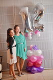Bat Mitzvah girl with her older sister Royalty Free Stock Image
