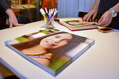 Bat Mitzvah Photobook Album Stock Image
