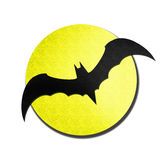 Bat and moon watercolor isolated on white Stock Photography