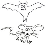 Bat and mouse Stock Photography
