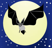 Bat in Night Sky Royalty Free Stock Image
