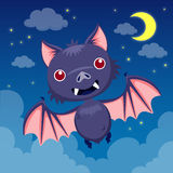 Bat on night sky Stock Photos