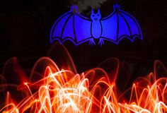 Bat out of Hell - Light Painting Composition Royalty Free Stock Images