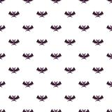 Bat pattern. Seamless repeat in cartoon style vector illustration Royalty Free Stock Photography
