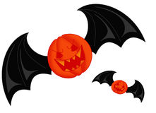 Bat Pumpkin. Color illustration of a scary bat Stock Photography
