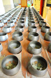 BAT for put money from Buddhist. BAT are container of Monk for get food or money from Buddist Stock Image