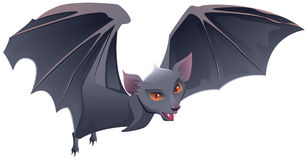 Bat with red eyes and sharp teeth Royalty Free Stock Photography