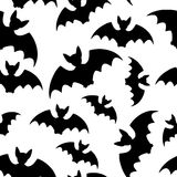 Bat - seamless background. Collection of bat silhouettes- seamless background Stock Photo