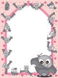 Bat Set Frame_eps. Illustration of bat set window frame Stock Images