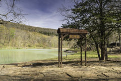 Bat Shelter at Devil`s Den in Ozark Mountains Royalty Free Stock Photography