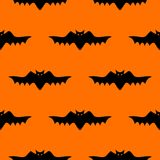 Bat silhouette seamless pattern. Stock Photo