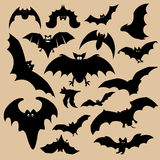 Bat silhouettes Stock Photo