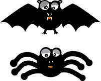 Bat spider (vector) Royalty Free Stock Image