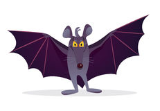 Bat spread its wings. Royalty Free Stock Image