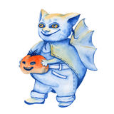 Bat. a stand-alone sketch animation. the symbol of Halloween. wa Stock Image