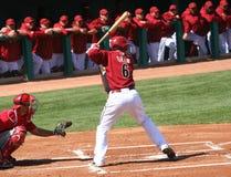 At bat, Stephen Drew in an Arizona Diamondbacks ga Royalty Free Stock Image