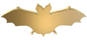 Bat symbol. Golden bat symbol Royalty Free Stock Images