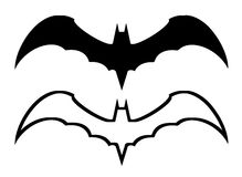 Bat symbol isolated on white Royalty Free Stock Photography