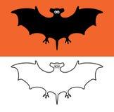 bat symbols, scary vampires of wildlife concept, vector  Stock Photography