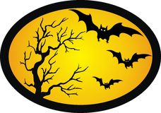 Bat and tree Stock Image