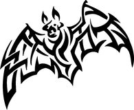 Bat in tribal style - vector illustration Royalty Free Stock Image