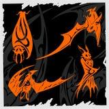 'bat' tribale. Illustration Libre de Droits