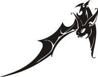 'bat' tribale 9. illustration de vecteur