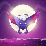 Bat, vampire - cartoon horror characters. Vector eps 10 Royalty Free Stock Image