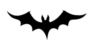 Bat. Vector illustration of a bat silhouette Royalty Free Stock Photo