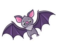 Bat on a white background. Stock Photo