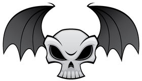 Bat Wing Skull. Vector illustration of an angry skull with bat wings. Great for Halloween decorations vector illustration