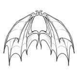 Bat wings  on white background Stock Image