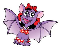 Bat woman in fly. Illustration Royalty Free Stock Photo