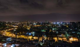 Bat Yam. Aerial view. Night city
