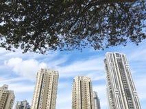 BAT YAM, ISRAELE 10 FEBBRAIO 2019: Alti edifici residenziali in Bat Yam, Israele immagine stock