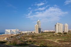 Bat yam panorama Royalty Free Stock Images