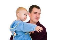 Bata del hombre y del bebé imágenes de archivo libres de regalías
