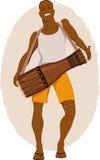 Bata drum musician Royalty Free Stock Photo