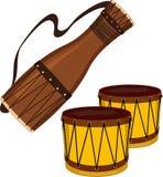 Bata et tambours de bongo illustration libre de droits
